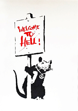 Banksy, 'Welcome to Hell', 2004, Taglialatella Galleries