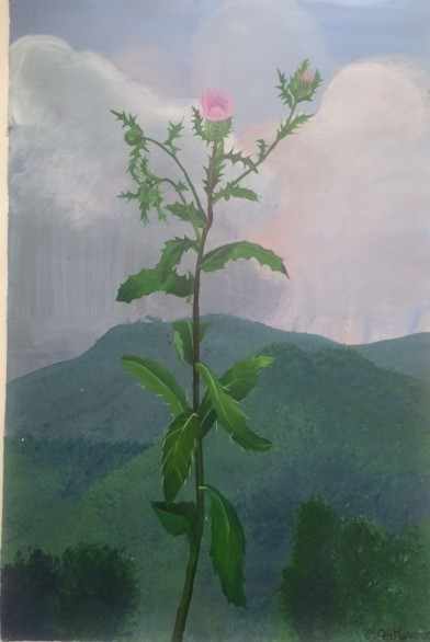 Patrick Kirwin, 'Song of the Thistle ', 1992, Painting, Acrylic Paint on Archival Paper, Zenith Gallery