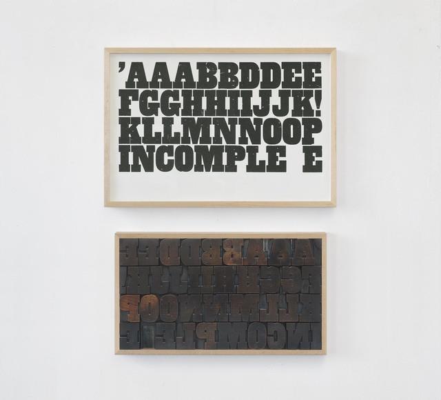 , 'AAABBDDEE,' 2018, Charlie Smith London