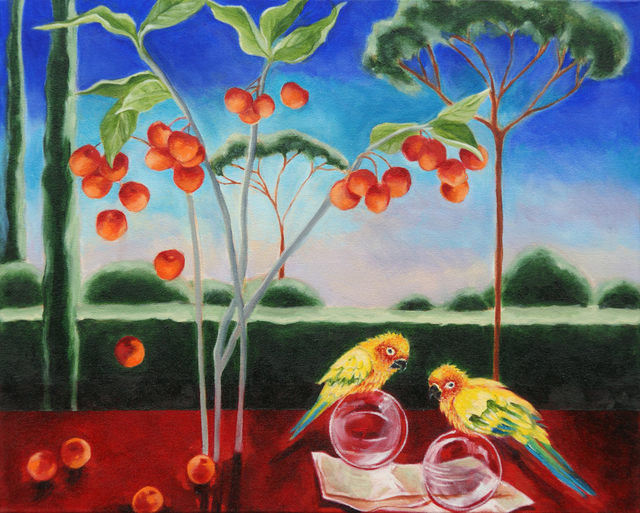 Katherine Pappas-Parks, 'One Moment is Timeless, as the Flying Birds Know II', Walter Wickiser Gallery
