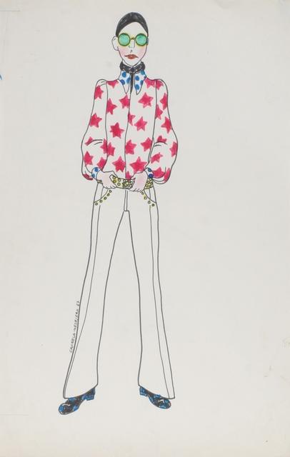 Delia Cancela, 'Chica pelo negro con camisa de estrellas', 1967, Herlitzka + Faria