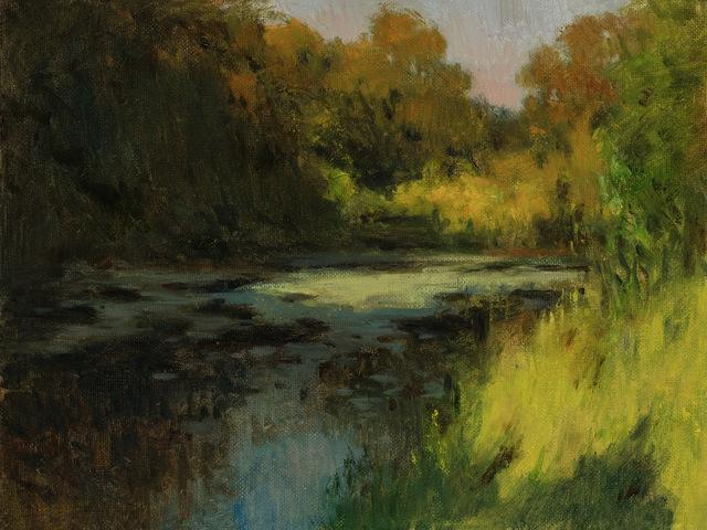 , 'Evening Pond,' 2018, Helena Fox Fine Art