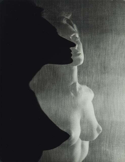 , 'Shadow Profile Behind Veil (Female Nude),' 1942, Contemporary Works/Vintage Works