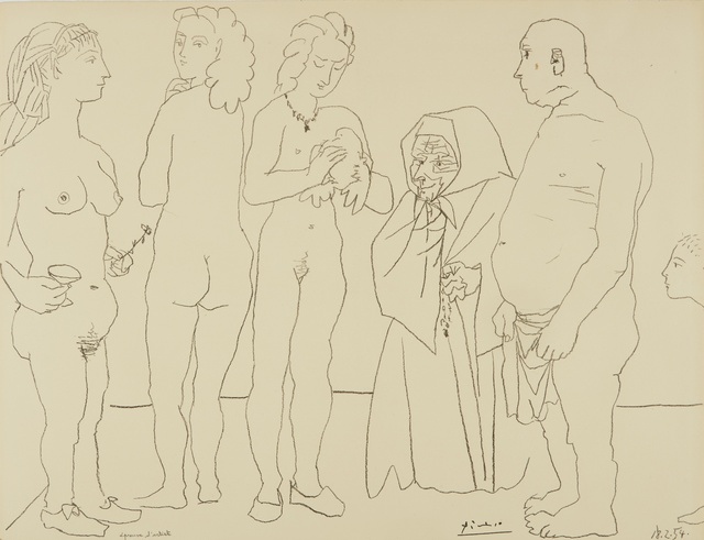 Pablo Picasso, 'Personnages et Colombe (B. 758; M. 254)', 1954, Sotheby's