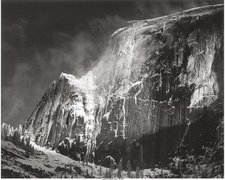 Half Dome, Blowing Snow, Yosmite National Park, California