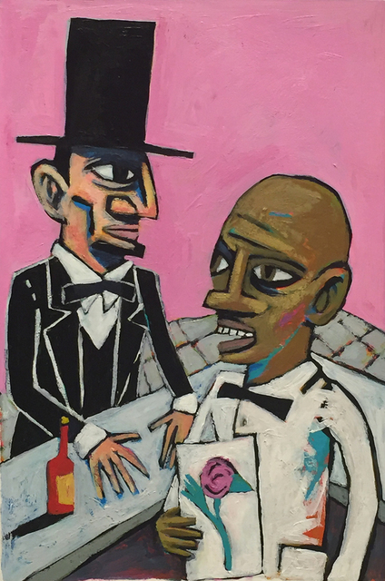 David Lambert, 'Lincoln at the Camellia Grill', 2016, LeMieux Galleries