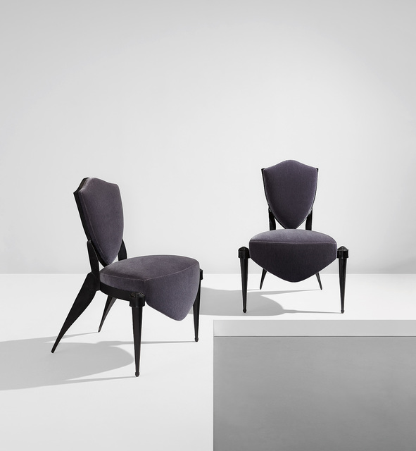 "André Dubreuil, 'Pair of ""Trévise"" chairs', circa 1988, Phillips"