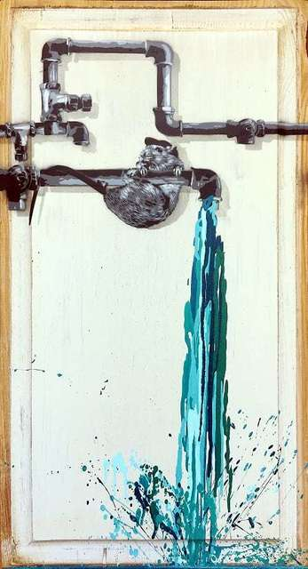 , 'Pipe Leak (Turquoise),' 2018, NextStreet Gallery