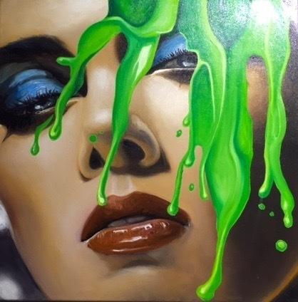 Manzur Kargar, 'Face splash 4', SimonBart Gallery