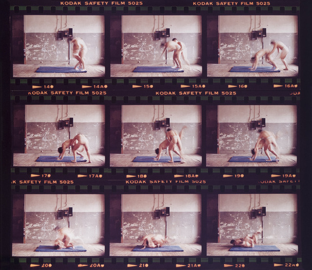 , 'After Bacon/Muybridge duck under, step over, to a Turk ride,' 1980, Galerie Donald Browne