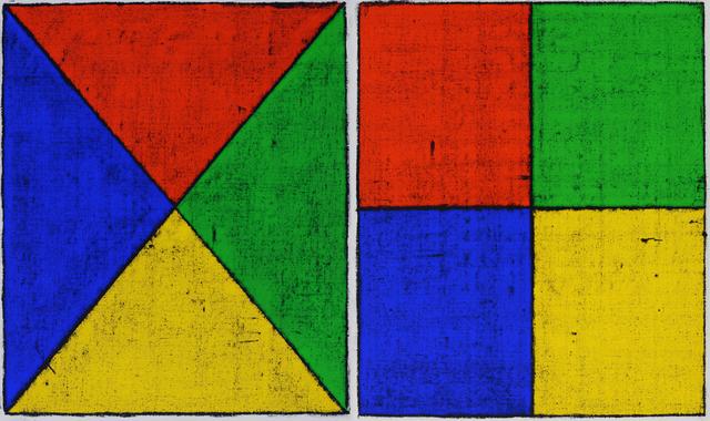 , 'Untitled (Colored Borders, Quartered I, II),' 2013, Mai 36 Galerie