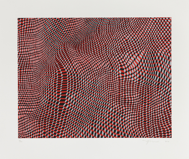 , 'Hex Grid Red SD,' 2014, Aspinwall Editions