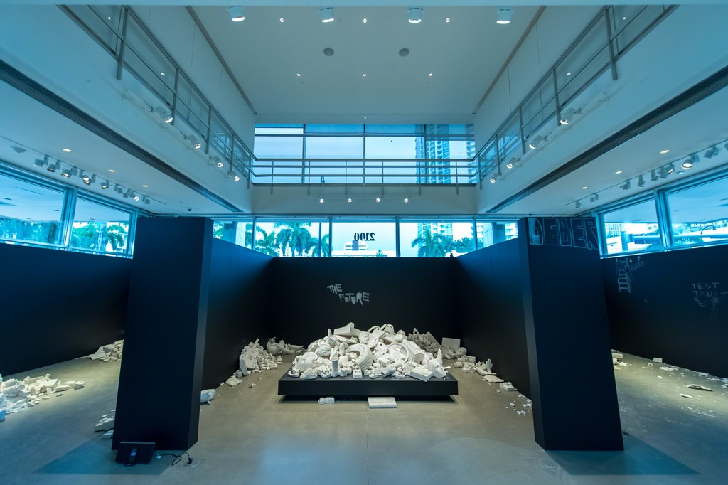 "Installation view of ""The Future Was Written"" at YoungArts Foundation © Jason Koerner"