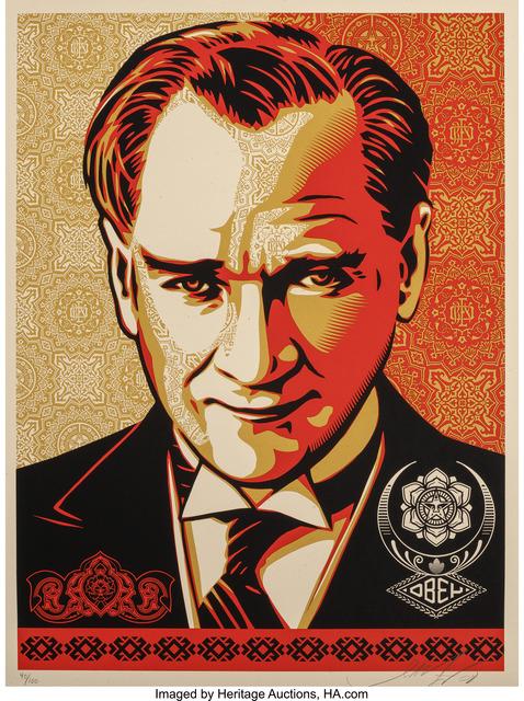 Shepard Fairey (OBEY), 'Mustafa Kemal Araturk', 2008, Heritage Auctions