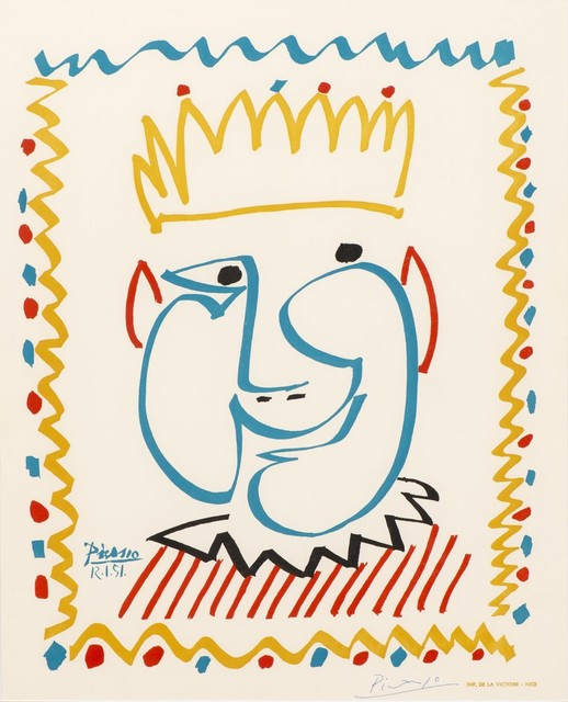 Pablo Picasso, 'Tête de Roi, Affiche pour le Carnival de Nice', 1951, Drawing, Collage or other Work on Paper, Lithograph, Masterpiece Art