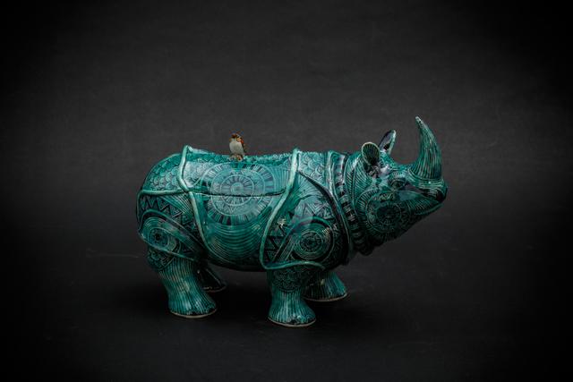 , '12. Green Rhino,' 2017, Sladmore Contemporary