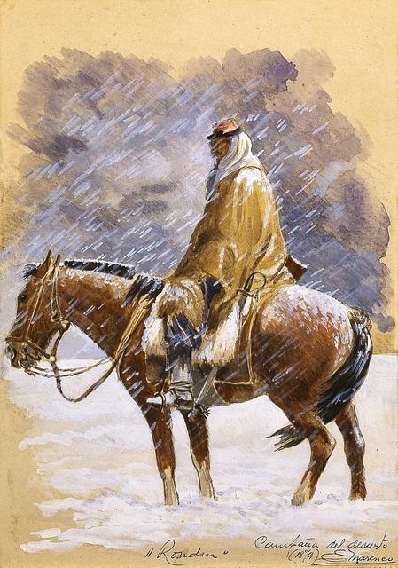 Eleodoro E. Marenco, 'Campaña del desierto: Rondín (Desert Campaign: Making the Rounds)', 1879, Blanton Museum of Art