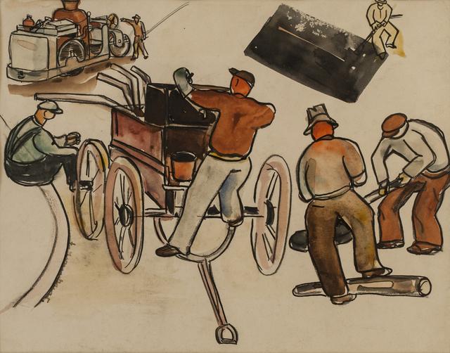 , 'Street Repair Crew,' , Canadian Fine Arts
