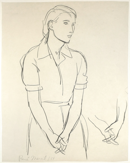 , 'Untitled: woman clasping hands ,' 1951, Nikola Rukaj Gallery