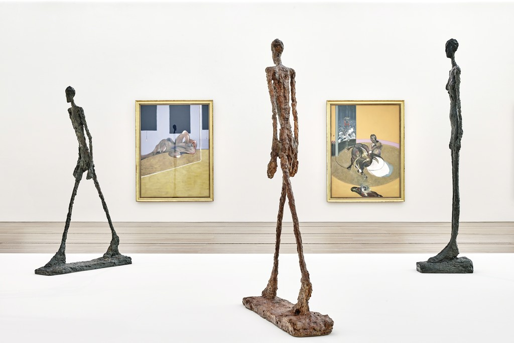 "Exhibition ""Bacon – Giacometti"" at the Fondation Beyeler, Riehen/Basel, 2018; artworks: © The Estate of Francis Bacon / © Succession Alberto Giacometti / 2018, ProLitteris, Zurich; photos: Mark Niedermann"