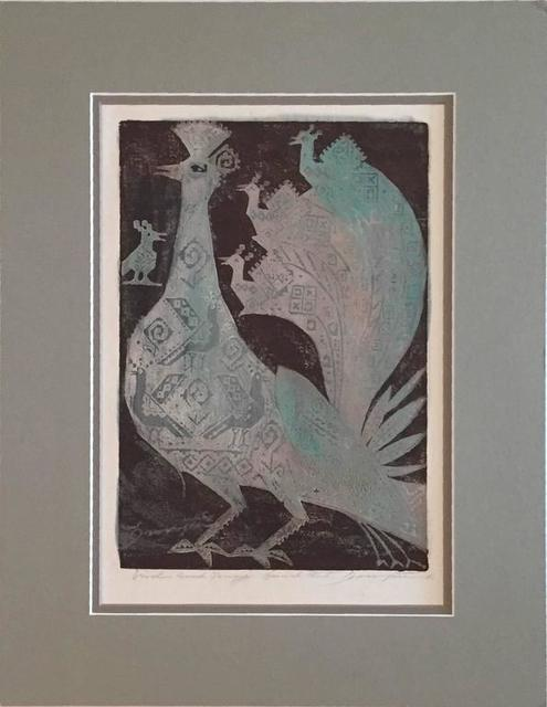 Joseph Domjan, 'Bird & Young', 20th Century, Lions Gallery