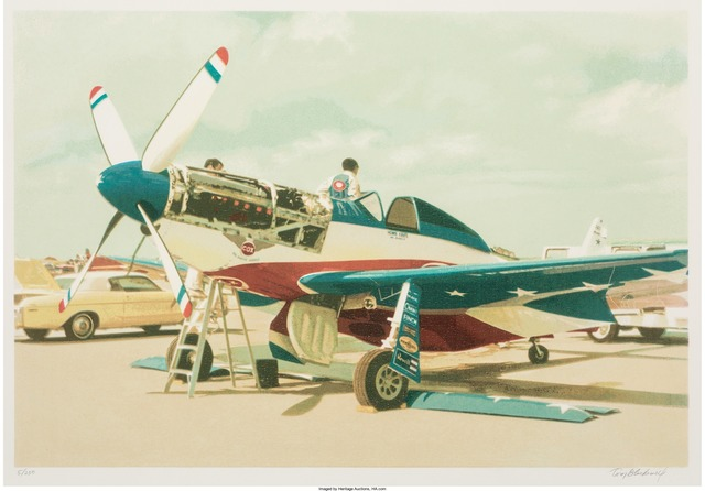 Tom Blackwell, 'Red, White & Blue Mustang', circa 1980, Print, Lithograph in colors, Heritage Auctions