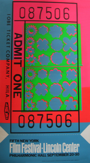 , 'Lincoln Center Ticket,' 1967, Alden Projects