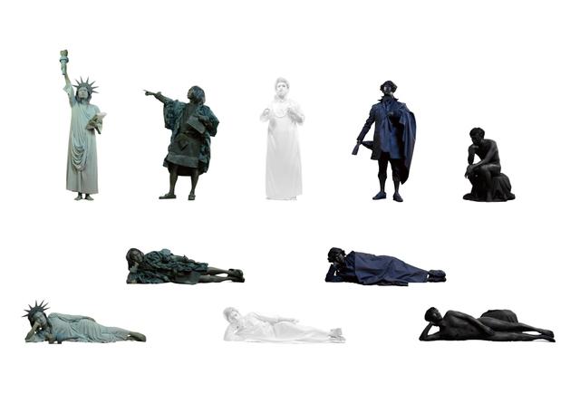 , 'Reclining Statues,' 2015, URANO