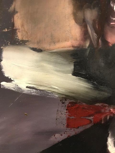 Florian Eymann, 'Portrait 4', 2019, Painting, Oil on wood, La Galerie Schwab Beaubourg