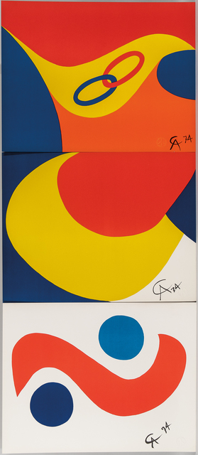 Alexander Calder, 'Five Plates from the suite Flying Colors: Beastie, Skybird, Friendship, Skyswirl, and Convection', 1974-published in 1975, Skinner
