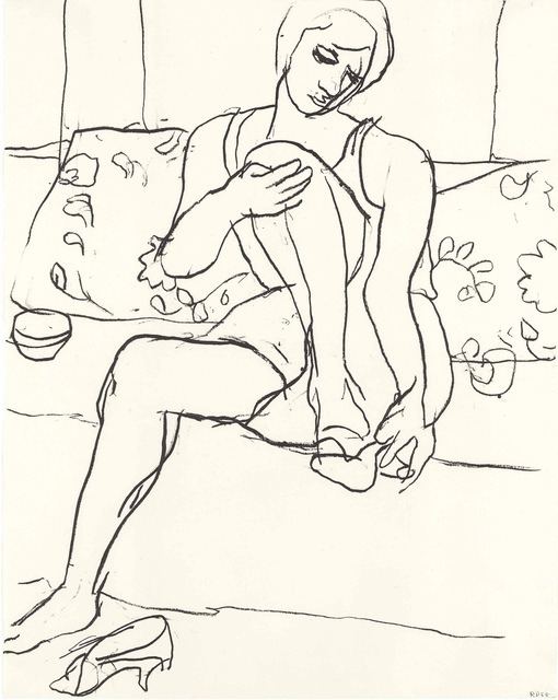 Richard Diebenkorn, 'Woman Seated on Sofa', 1965, LongHouse Reserve Benefit Auction
