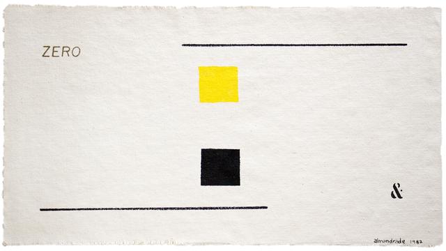 , 'Visual Poem,' 1987, Gabinete de Arte k2o