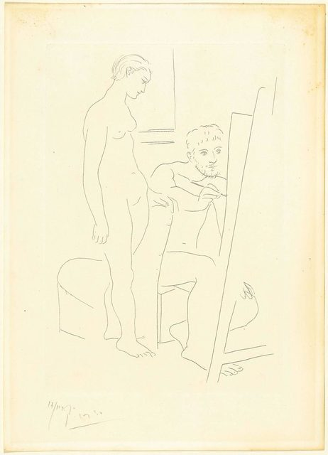 Pablo Picasso, 'Le modèle nu', 1927, Print, Etching, 2nd state, Koller Auctions