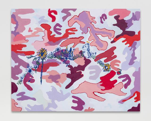 , 'Pink Camo,' 2016, MARTOS GALLERY
