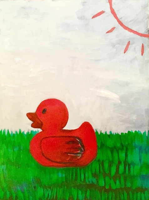 , 'Red Duck in Garden,' 2016, Geary Contemporary