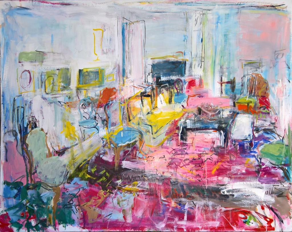 Kind-Hearted Tim Balboni New York City Vintage Abstract Modernist Painting Art