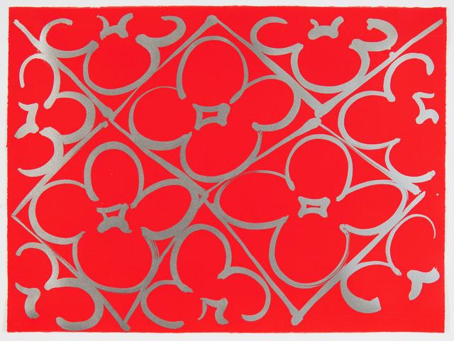 Judy Ledgerwood, 'Chromatic Patterns After the Graham Foundation - Red', 2014, Manneken Press