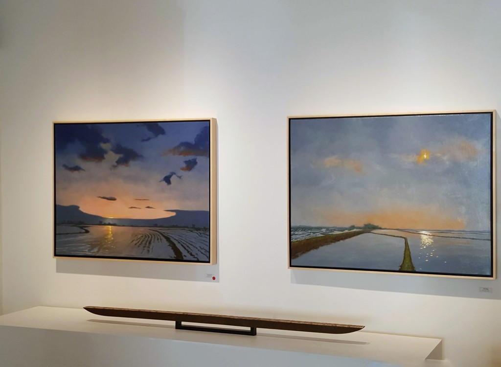 Paintings of the area around the Yolo bypass by Denny Holland