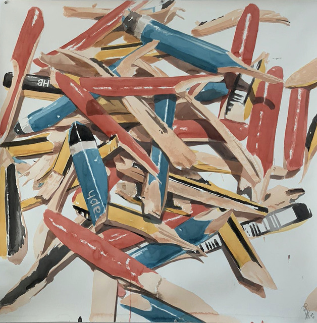 Alexandre Arrechea, 'Gone', 2020, Drawing, Collage or other Work on Paper, Watercolor, Casado Santapau