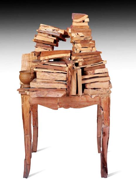 , 'Mesa con libros y vasija,' 1995, Galería La Cometa