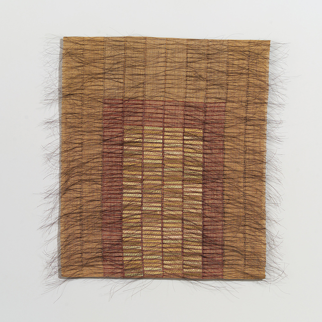 Adela Akers, 'Morning Gate', 2005, Textile Arts, Linen, horsehair and metal foil, browngrotta arts