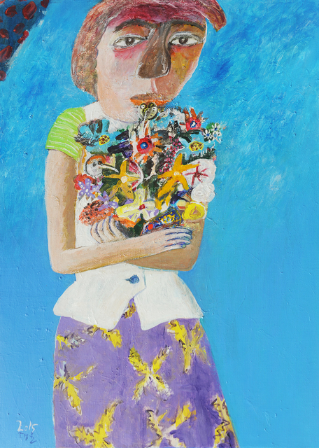 , 'Woman and Flowers [꽃과 여인],' 2015, Picasso Gallery