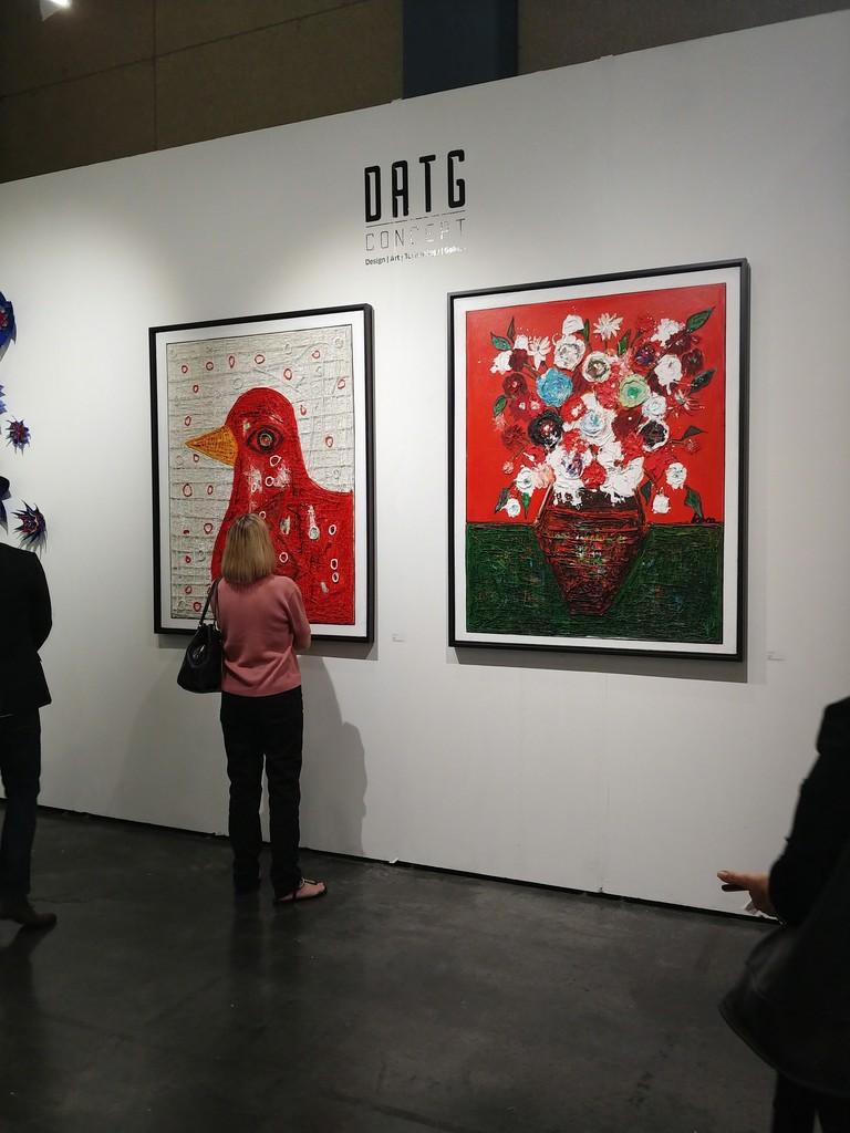 The public admiring his work