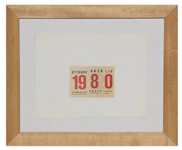 Alighiero Boetti, 'Calendario ', 1980, Glenda Cinquegrana Art Consulting