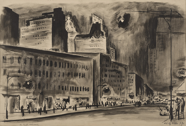 , 'On Eighth Avenue,' ca. 1920, Thomas French Fine Art