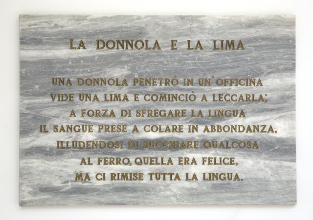 , 'La donnola e la lima,' 1972, Dep Art