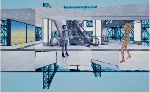, 'Espace Public no. 47,' 2012, Galerie Lacerte Art Contemporain
