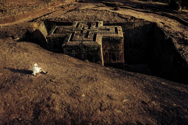 , 'Primordial Modernity: The Raw Spirit of Lalibela III,' 2014, Addis Fine Art