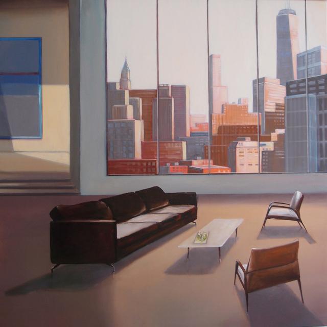 , 'NEW YORKER,' 2018, 3 cerises sur une étagère