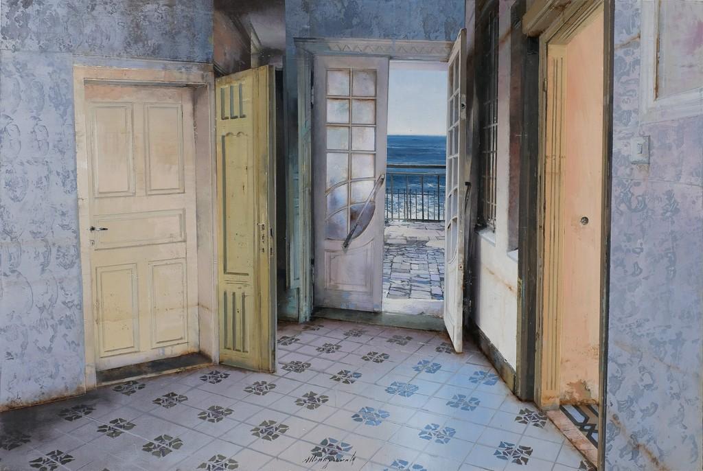 , 'Mattino al mare,' 2017, Galleria Punto Sull'Arte